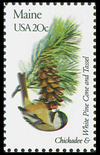 1982 20c Maine State Bird & Flower - Catalog # 1971 For Sale at Mystic Stamp Company