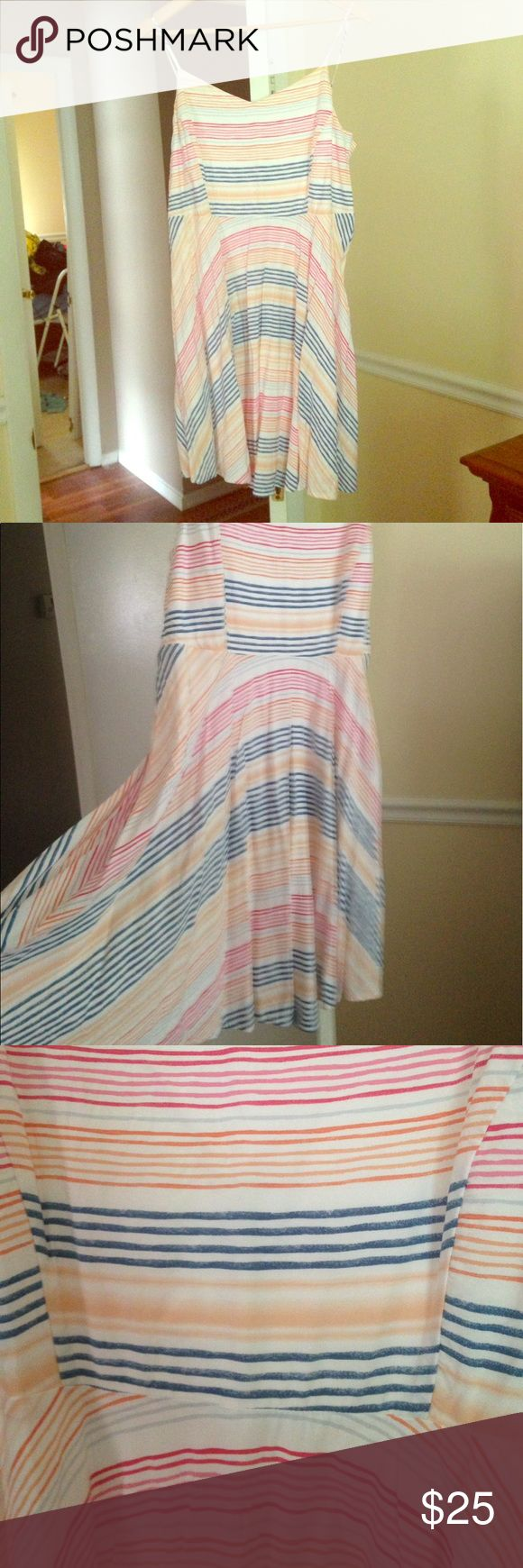 NWOT Old Navy Striped Cami A Line Dress NWOT Old Navy Striped Cami A Line Dress. Washed but not worn. True to size! Old Navy Dresses