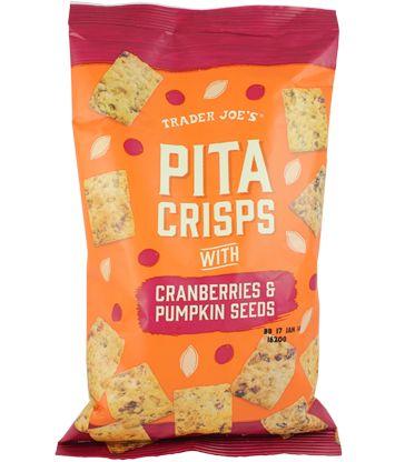 Trader Joe's Pita Crisps with Cranberries and Pumpkin Seeds 6oz.  $2.69 #Pita #Crisps  #Cranberries #Pumpkin #Seeds  #TraderJoes