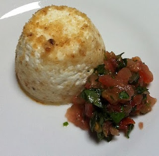 Thermomix ricotta cakes and salsa. Noms.