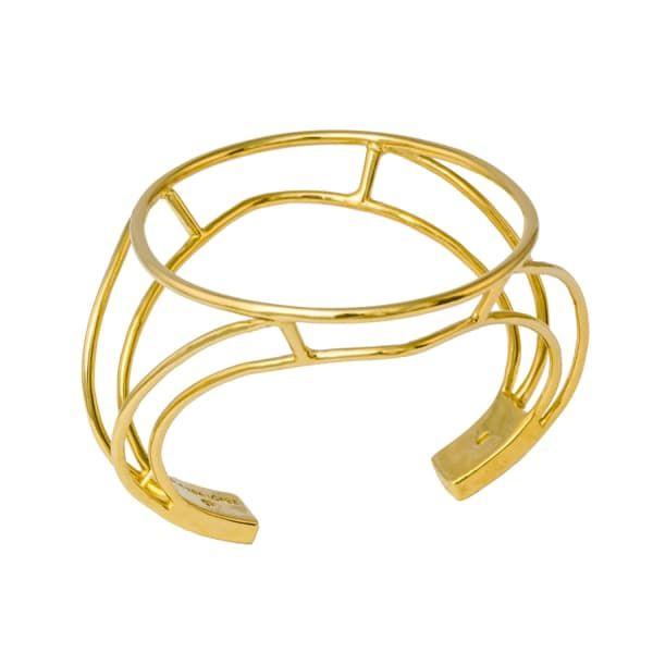 Glenda Lopez 18kt Gold Dipped Empty Signet Necklace czZrnoAL