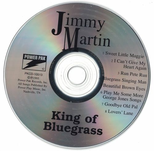 Jimmy Martin King Of Bluegrass 1996 CD Professionally Cleaned