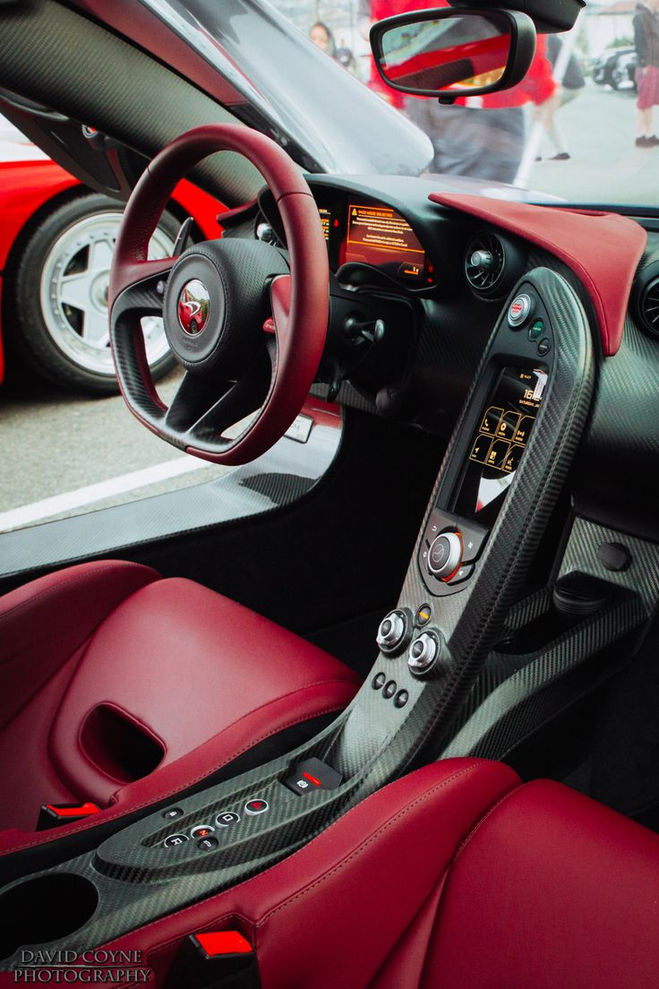 "davidcoynephotography: ""McLaren P1 Interior - Ox Blood www.davidcoynephotography.com """