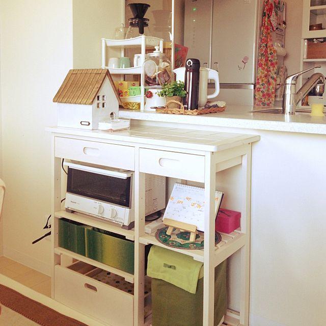 キッチン トースター バルミューダのまとめページ | RoomClip (ルーム ... キッチンとトースターとホームベーカリーのインテリア実例