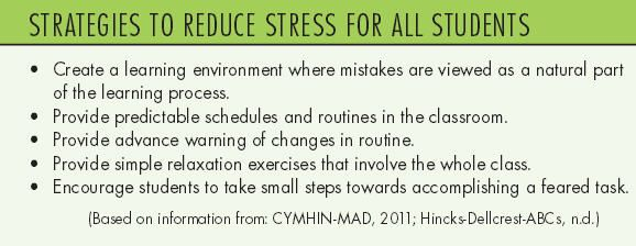 Strategies to reduce stress for ALL students.