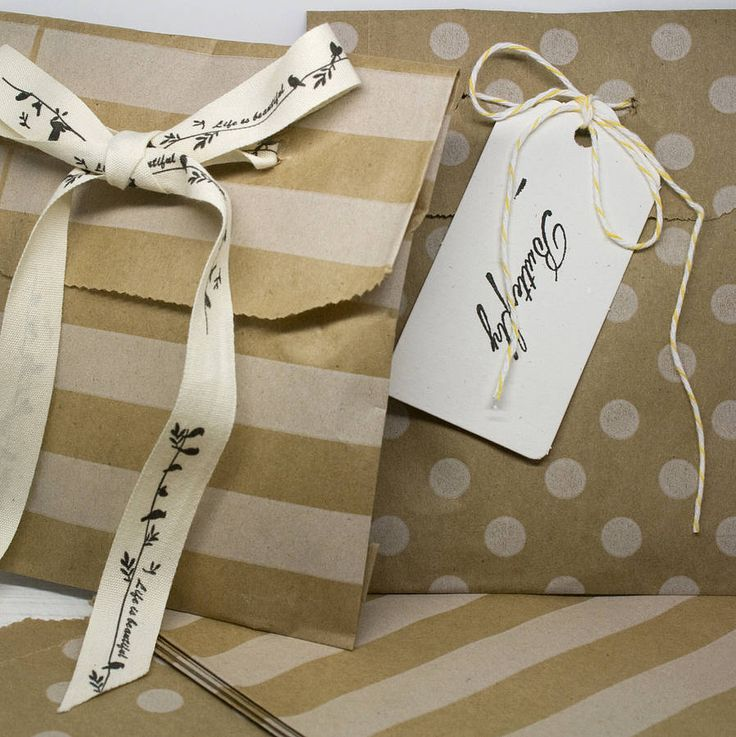 set of 20 favour bags by wedding in a teacup | notonthehighstreet.com