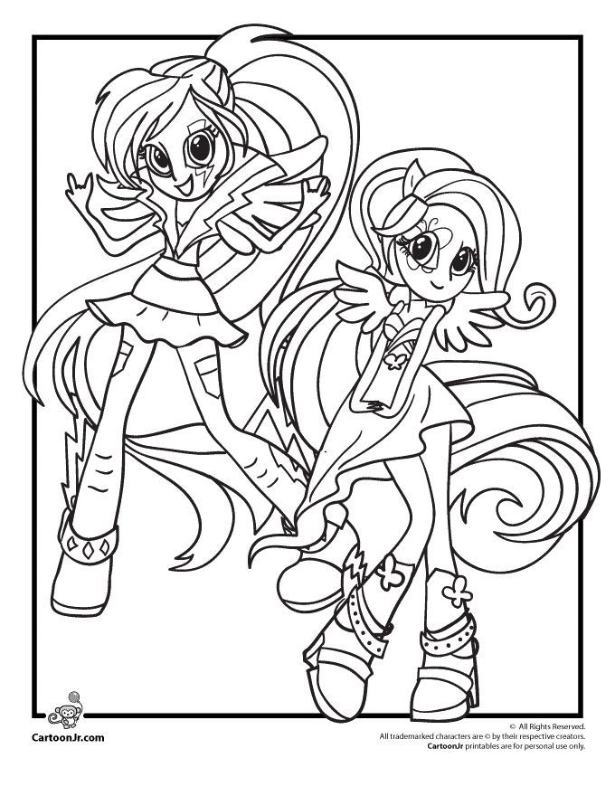 My Little Pony Coloring Pages Rainbow Dash Equestria Girls My