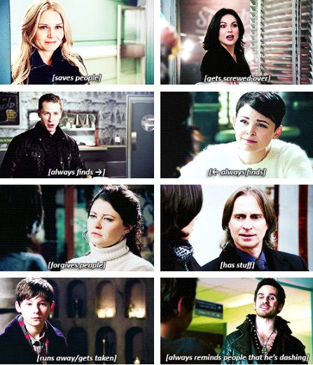Love this. OUAT summary. I mean he is pretty dashing... you can't really blame him. Poor Regina.