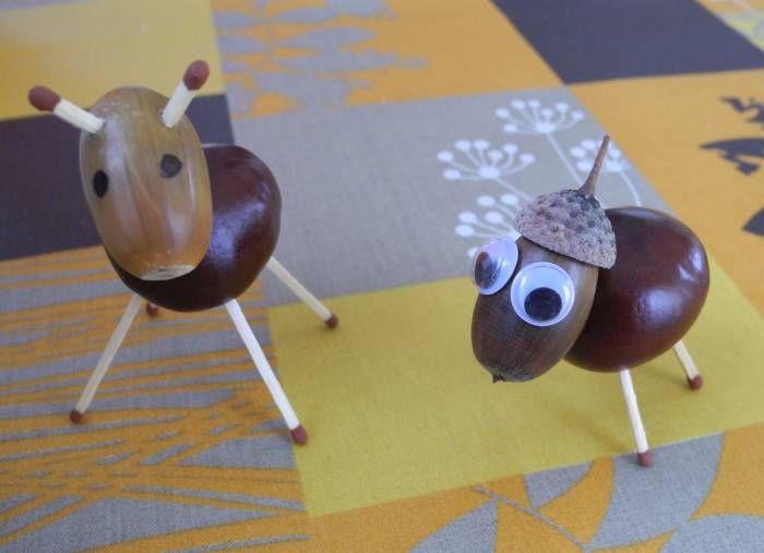 mit kastanien und eicheln basteln im herbst natur dyi pinterest craft. Black Bedroom Furniture Sets. Home Design Ideas