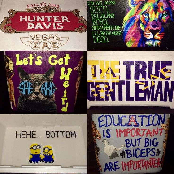 SAE painted fraternity formal cooler for my boyfriend!