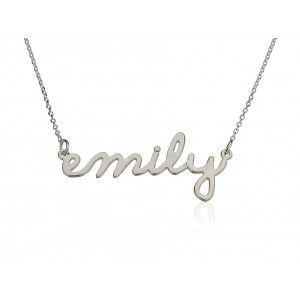 Personalised Name Necklace Birthstone 20
