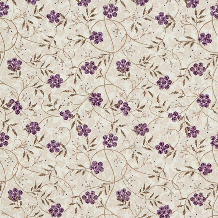 This design was taken from Jasmine wallpaper, designed by Morris in 1872. In this fabric version, the all-over background of hawthorn leaves is printed and the meandering jasmine trail is embroidered over the top, creating a very pretty and feminine design.