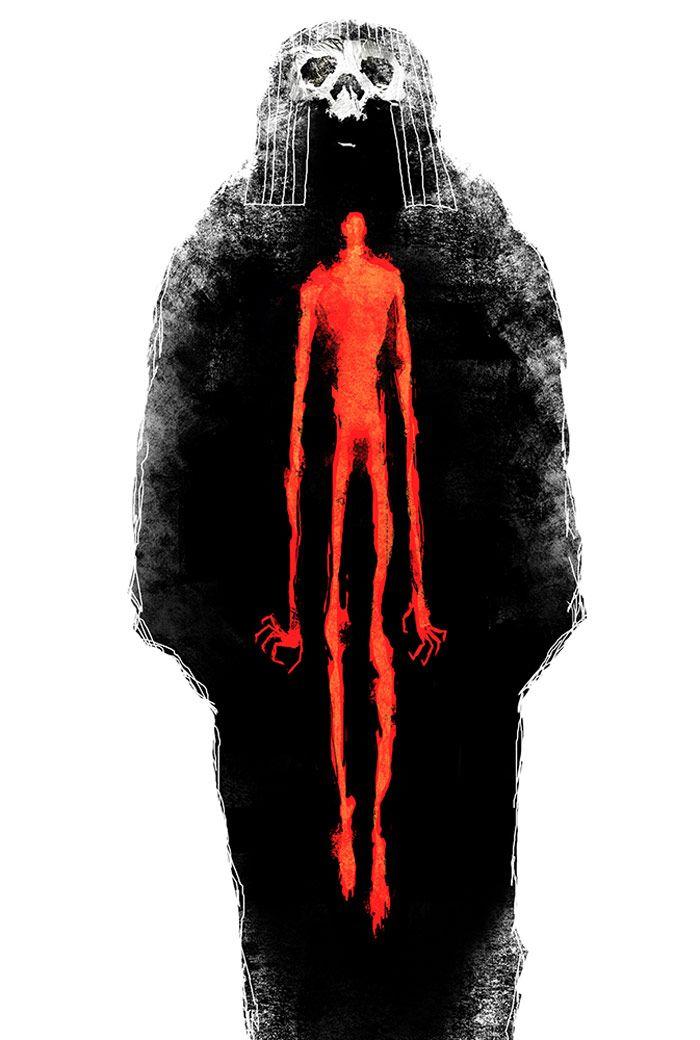Ilustraciones oscuras de Jeffrey Alan Love