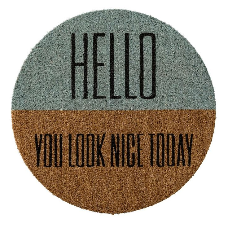 Bloomingville Deurmat - Hello you look nice today