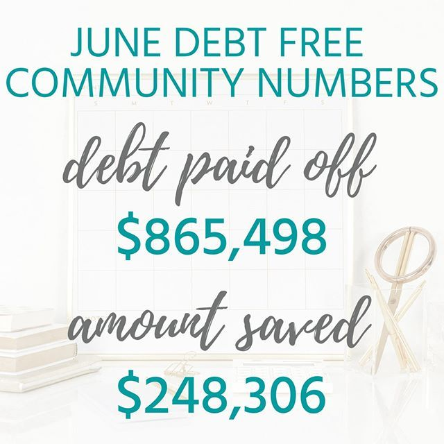 Another Fantastic Month Debtfreecommunity 865 498 Was Paid Off