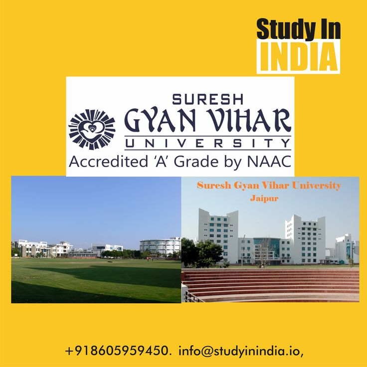 "Study in India, Study in NAAC ""A"" private University of India Suresh Gyan Vihar University. Scholarships available for Bangladesh, Tanzania, Senegal, Uganda, Kenya students. Contact us on info@studyinindia.io or visit us on www.studyinindia.io for more information #Scholarships #Africans #India #StudyinIndia #StudyAbroad #Bangladesh #Thailand #Zambia #Senegal #Uganda"