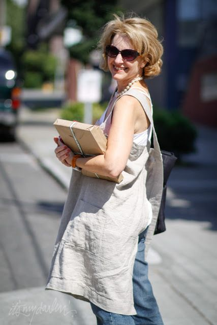 it's my darlin' seattle street style: Rebecca Evans | Rough Linen pinafore