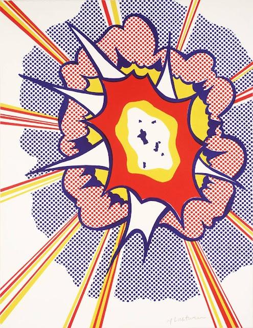 Explosion, Roy Lichtenstein 1965-6