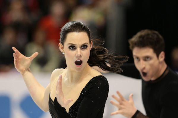 Tessa Virtue and Scott Moir perform their Carmen FD. I love the depth of expression this picture shows.