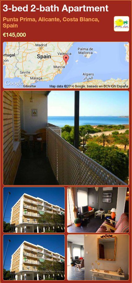3-bed 2-bath Apartment for Sale in Punta Prima, Alicante, Costa Blanca, Spain ►€145,000