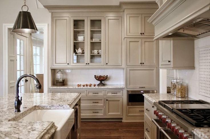Taupe kitchen color design                                                                                                                                                      More