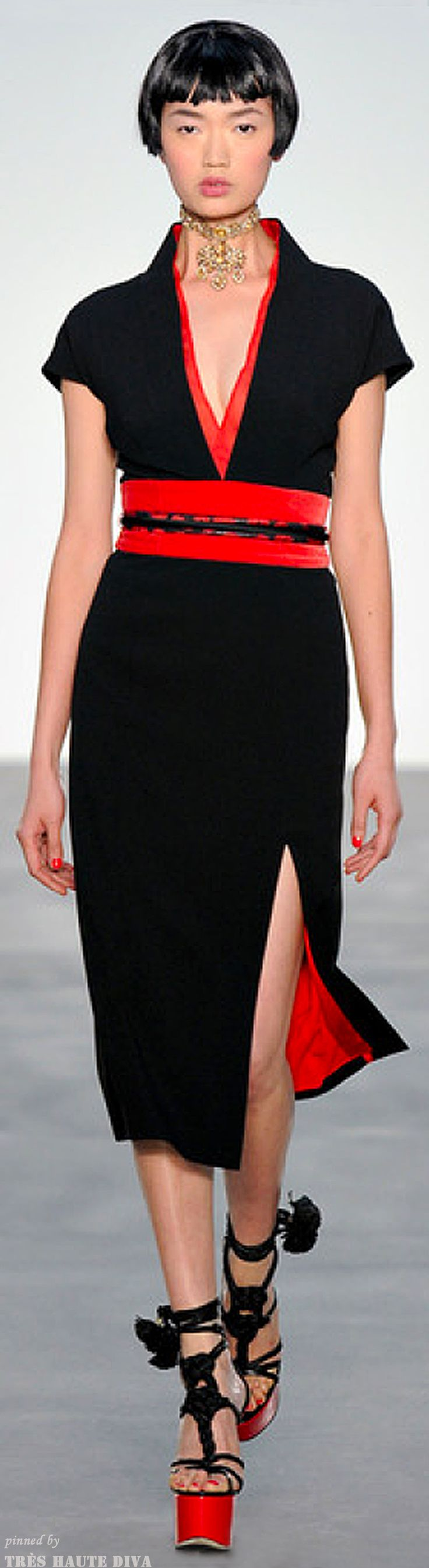 #London FW L'Wren Scott Sring 2014 RTW http://www.style.com/fashionshows/<3