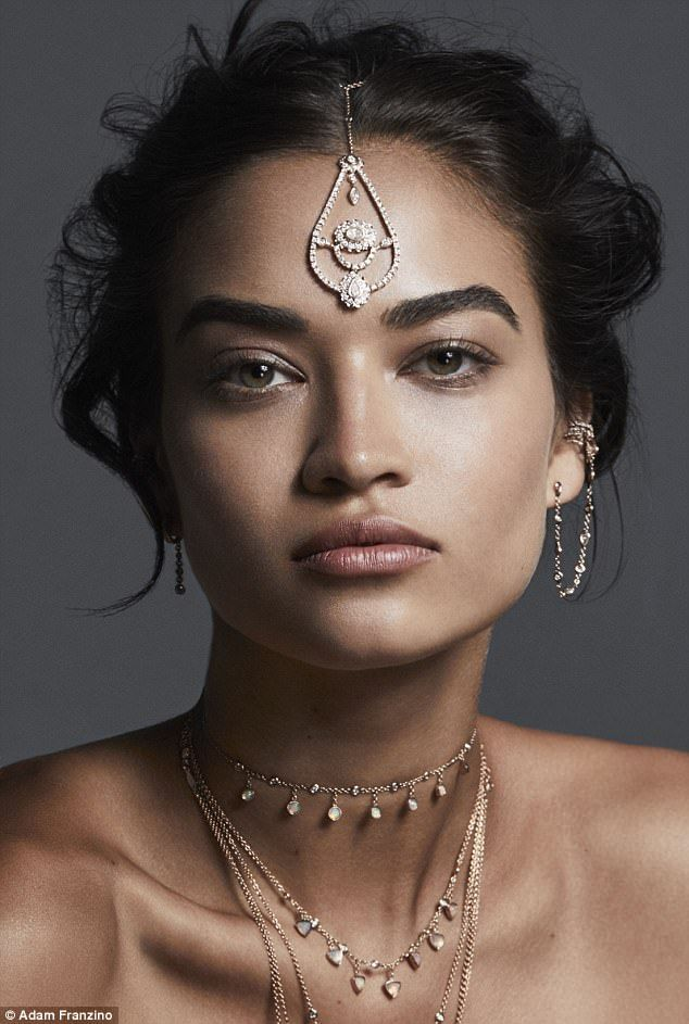 Prized jewel: A statement accessory resting on the forehead adds an extra wow factor