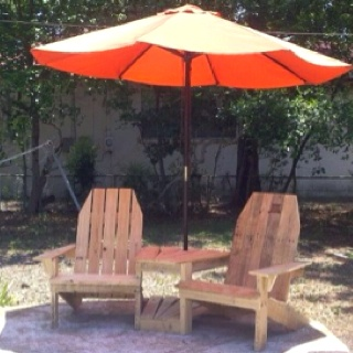 double adirondack chairs with umbrella table and 2 cheap 32 best images on pinterest   chairs, garden furniture outdoor