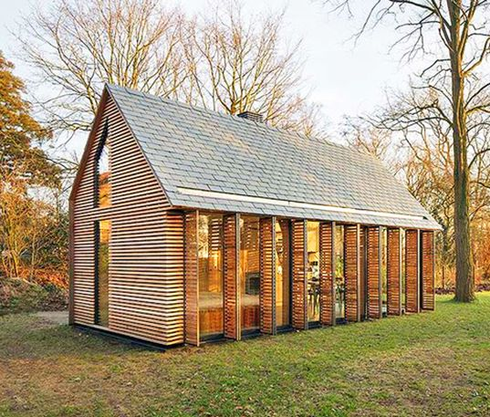 This tiny Dutch garden house was turned into a gorgeous shutter-clad getaway | Inhabitat - Sustainable Design Innovation, Eco Architecture, Green Building