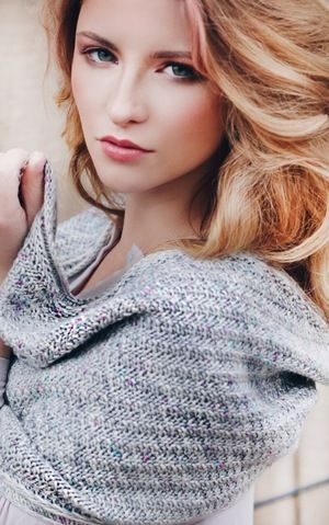 My gorgeous niece modeling for a great yarn store! If you love to knit visit fiberista.club