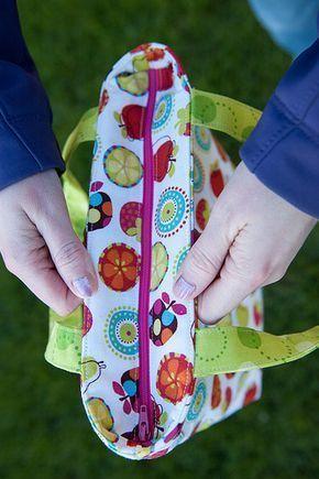coudre une fermeture sur un sac Assez clair, même s'il manque la pose de la doublure