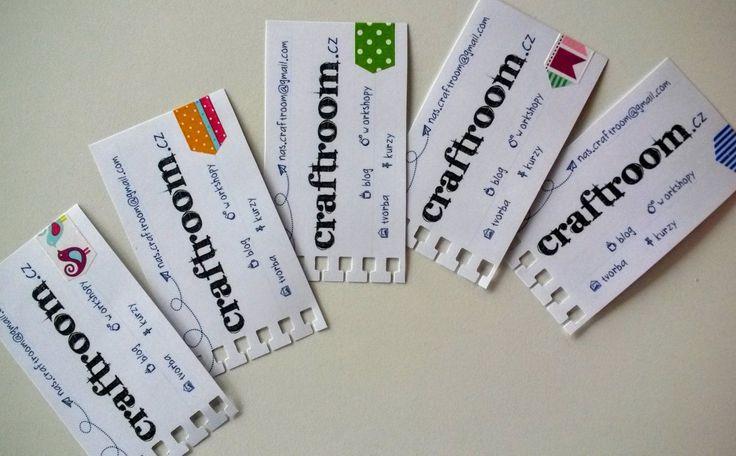 DIY business cards.  Naše vlastní vizitky craftroom.