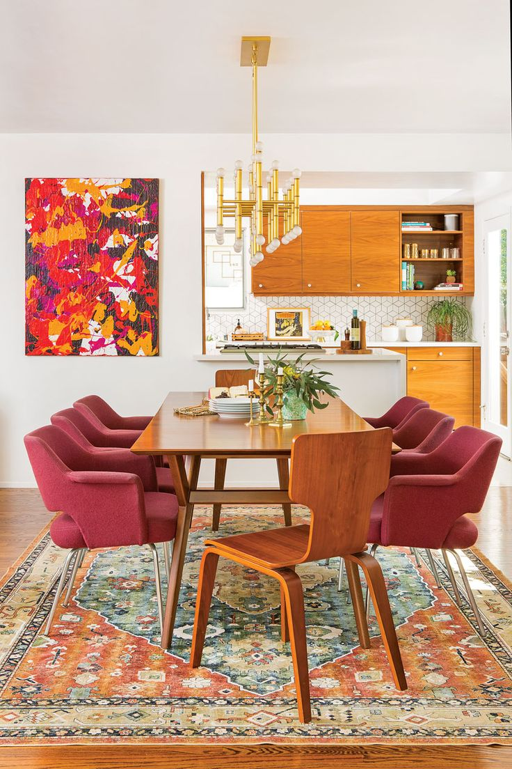 Bohemian Mod in 2020 | Mid century dining room, Modern ...
