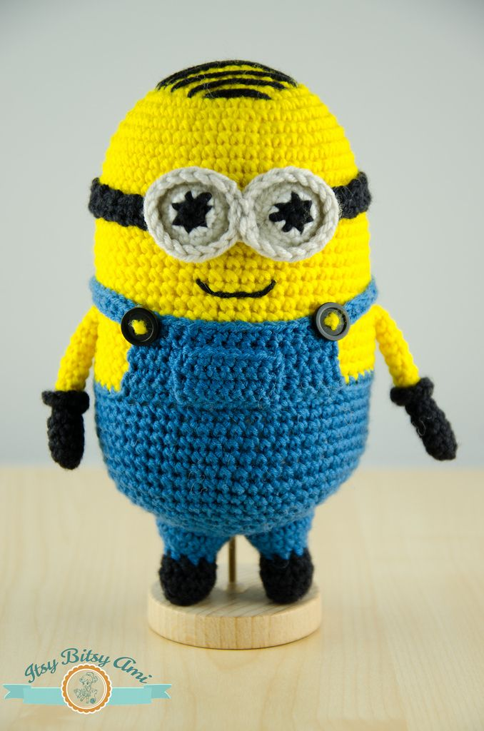 Free Crochet Pattern For Minion Toy : Mini Minion Amigurumi Crochet Amigurumi - Cute cuddly ...