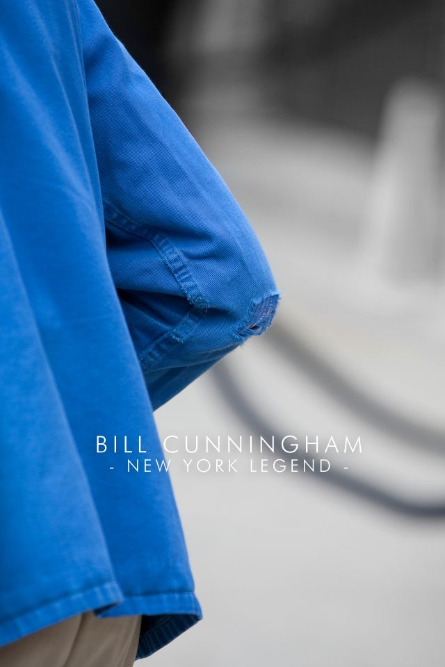 Bill Cunningham: Everyone should be so lucky to do something they love so much.  good idea for cover?