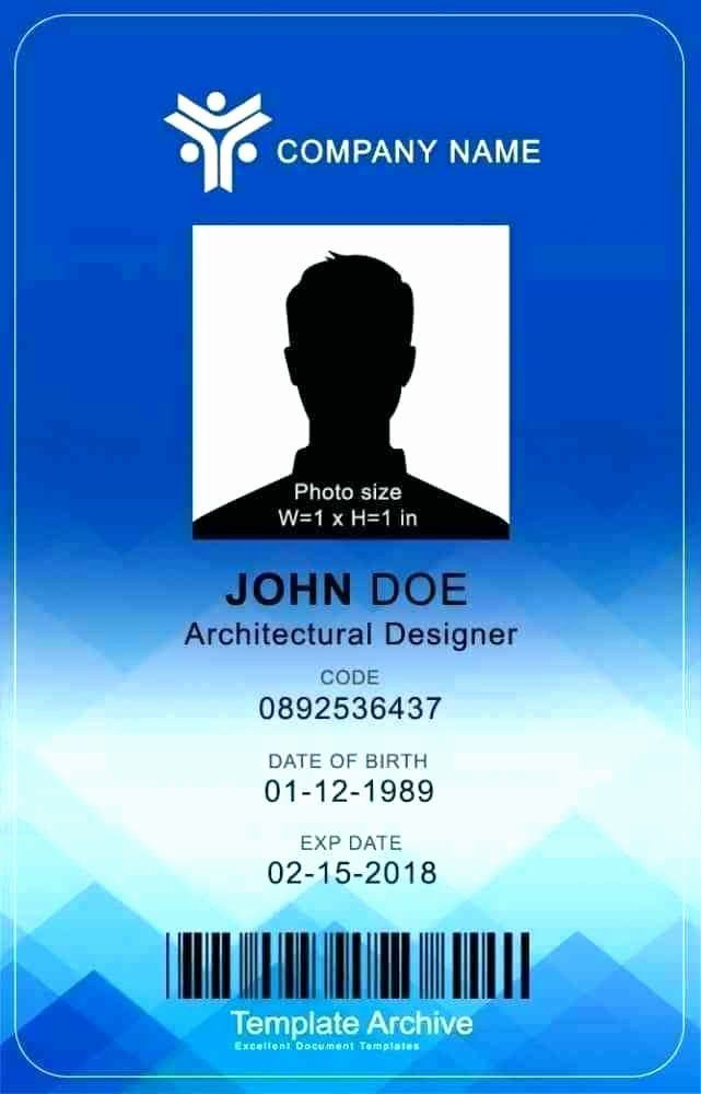 Photoshop Id Card Template Lovely Template Vertical Id Card Template Employee Staff Badge Id Card Template Employee Id Card Card Templates Free