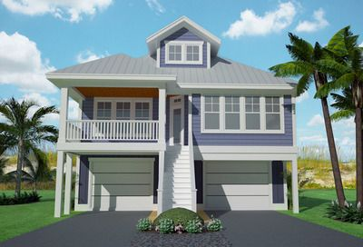 Plan 15061NC: Narrow Lot Low Country Home Plan