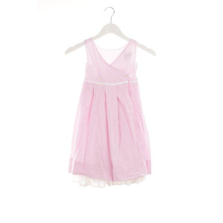 Hübsches Wickelkleid von Ralph Lauren in Rosa & Weiß gestreift Gr. 122 - Top Zustand!