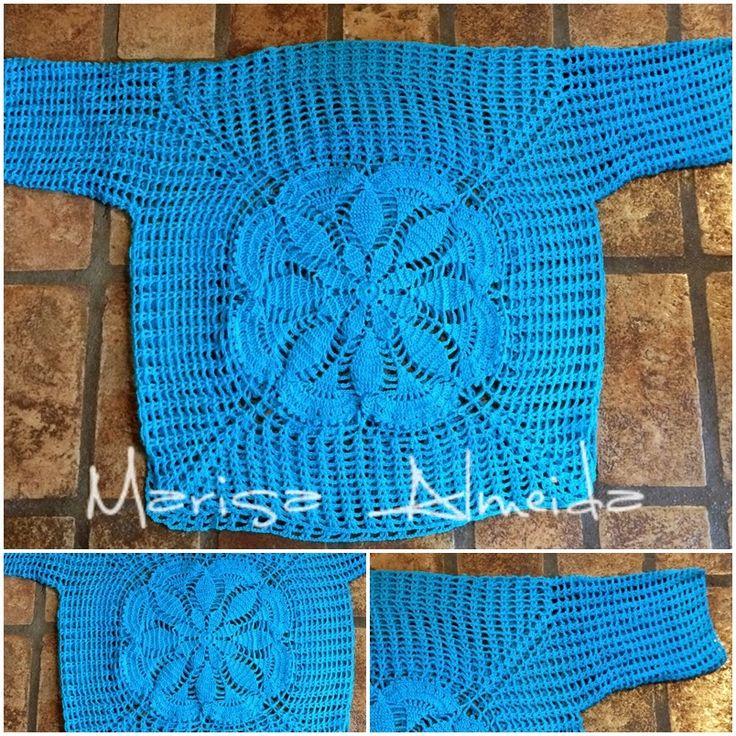 Marisa Almeida Tricot Crochet : Blusa Crochet Motivo Central TJ