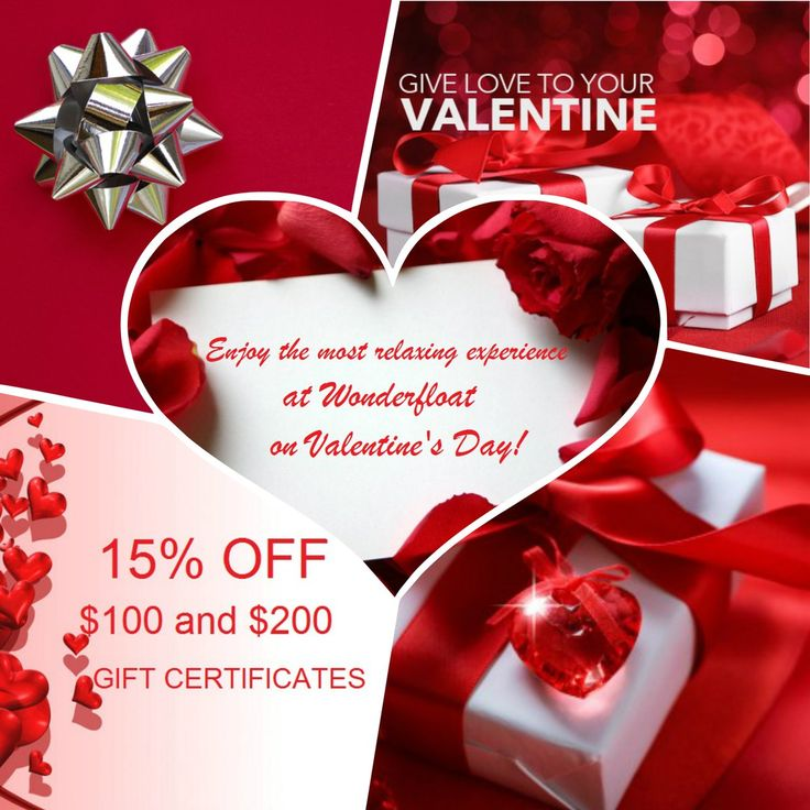 Valentine's Day Special - Enjoy 15 % OFF on your $100 or $200 Gift Certificates online or Gift Cards in store!