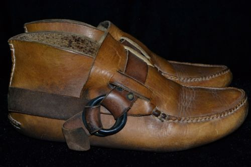 Vintage Men's THICK LEATHER Handmade Moccasin Dyer Quoddy Ring Ankle Boots 9