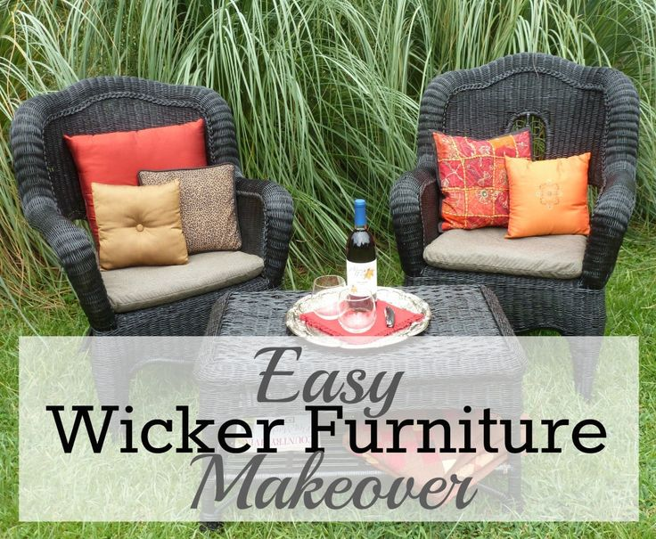 Easy Wicker Furniture Makeover - My Big Fat Happy Life