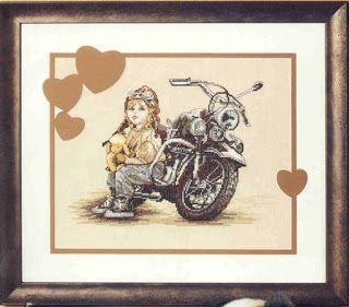 Atelier Colorido PX: Quadro - Menino na mota!
