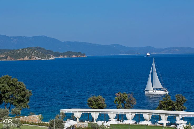 Cobalt blue waters stretch before your eyes, offering unique views to the beauty of #Greece !   #kassandrabay