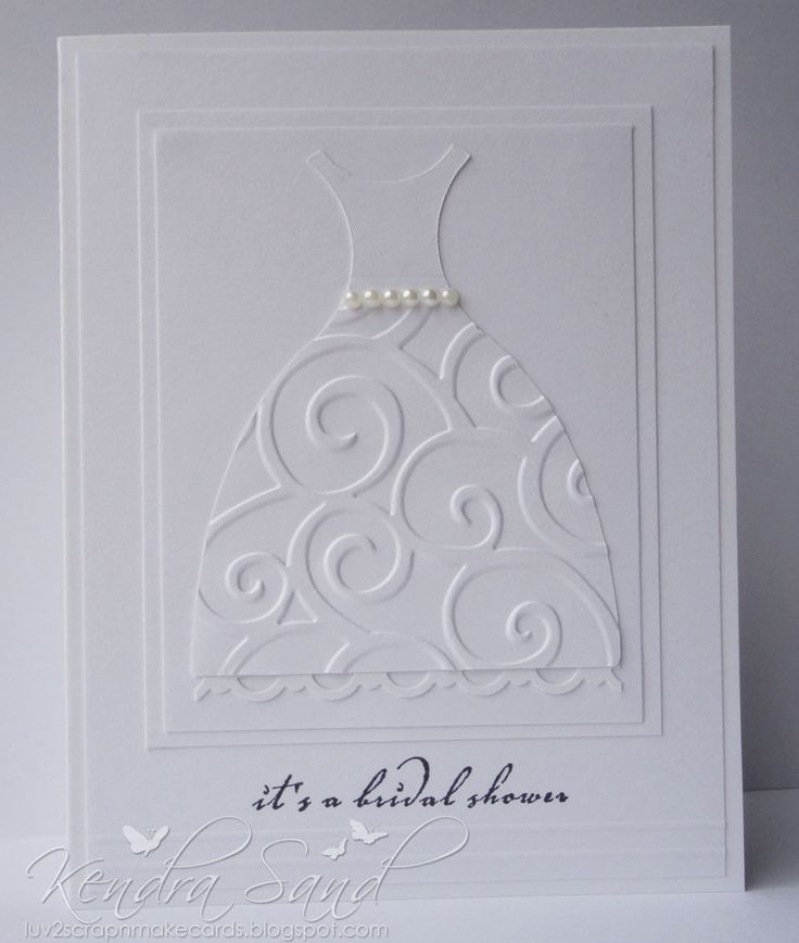 bridal shower invitations registry etiquette%0A cricut bridal shower invitation   Also very elegant  I also used circles to  create this