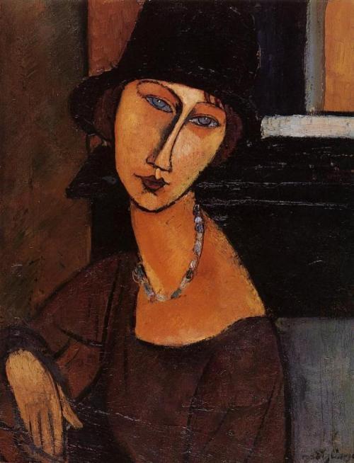 Jeanne Hébuterne painted by Amadeo Modigliani