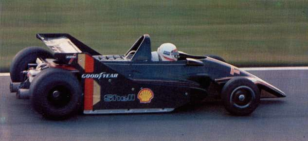 Gianfranco Brancatelli testing the first prototype of Kauhsen-Cosworth at Paul Ricard at the end of 1978