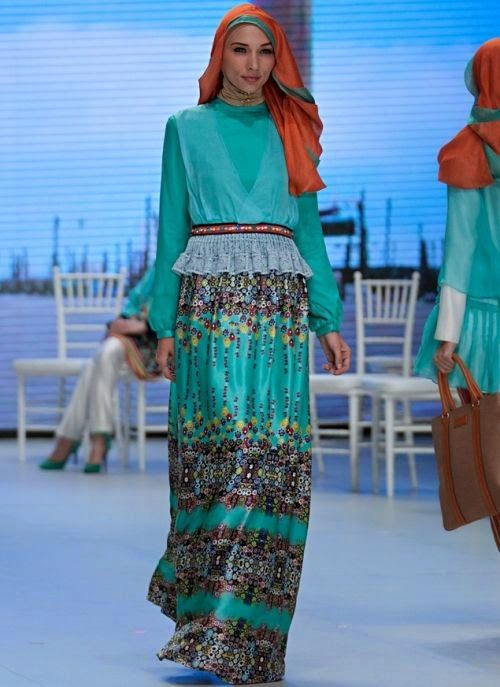 Model Baju Muslim Terbaru Shafira Nuansa Torquise