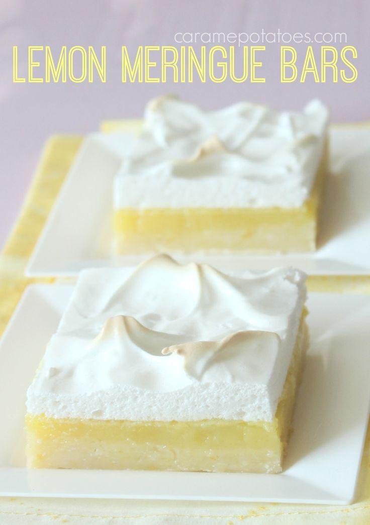 Lemon Meringue Bars - All the fresh, zesty lemon flavor of pie in an Easy-To-Make Bar!