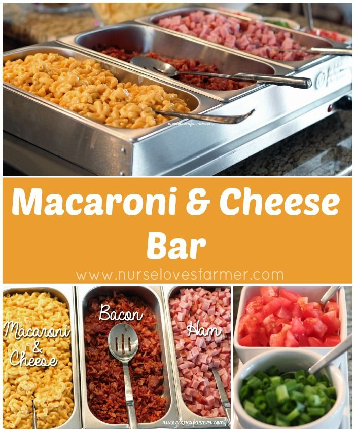 Macaroni and Cheese Bar | So fun for a party!